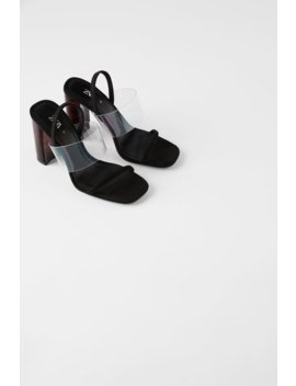 High Heel Sandals With Tortoiseshell Methacrylate Heels View All Shoes Woman by Zara