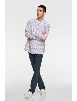 Polo Overhemd Met Strepen Alles Bekijken Overhemden Heren by Zara