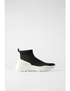 Technical Fabric Sock Boots View All Shoes Woman by Zara