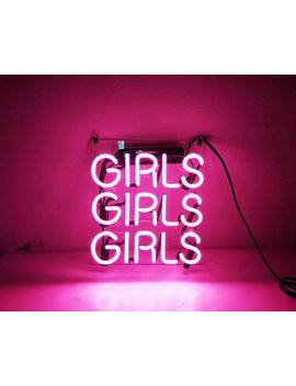 "Handmade Glass Neon Light Sign Decor Wall Window Home Room ""Girls Girls Girls"" 9""X10"" by Etsy"