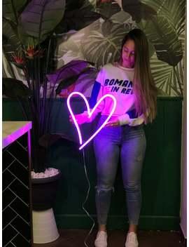 Neon Wedding Sign, Heart Shaped, Pink Heart, Heart Sign, Heart Shape, Love Neon, Neon Love, Neon Love Sign, Love Neon Sign, Love Art by Etsy