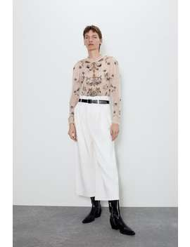 Limited Edition Embroidered Top Editorial A Vision Of Autumn Woman by Zara