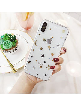 For I Phone X 8 7 6s Plus Shockproof Bling Cute Star Clear Case Soft Rubber Cover by Unbranded/Generic