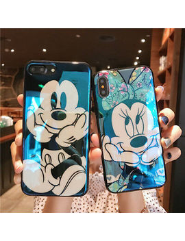 Mickey Minnie Case For I Phone Xs Max X Xr 8  Disney Blu Ray Glossy Cartoon Cover by Unbranded/Generic