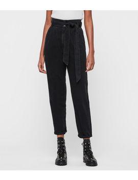 Ralita High Rise Cropped Jeans, Black by Allsaints