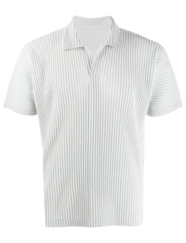 Plissiertes Poloshirt by Homme Plissé Issey Miyake