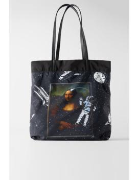 Xl Mona Lisa Reversible Tote Bag View All Bags Woman by Zara