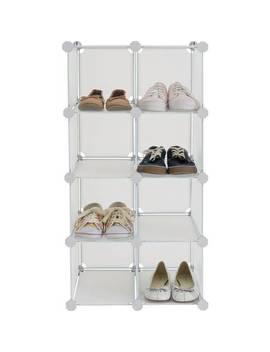 Argos Home 8 Interlocking Shoe Storage Boxes   White by Argos
