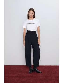 Slogan T Shirt View All T Shirts Woman by Zara