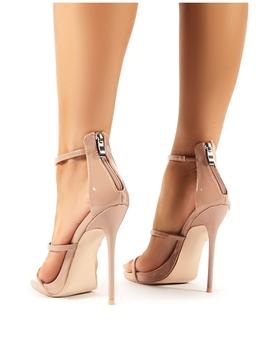Paris Nude Patent Strappy Stiletto Heels by Public Desire