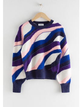 Embellished Colour Wave Sweater by & Other Stories