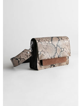 Snake Embossed Large Crossbody Bag by & Other Stories