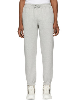 Grey French Terry Lounge Pants by AimÉ Leon Dore