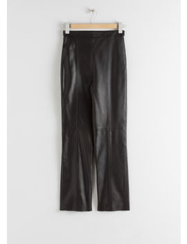 Soft Leather Trousers by & Other Stories