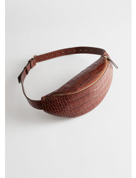Croc Embossed Leather Belt Bag by & Other Stories