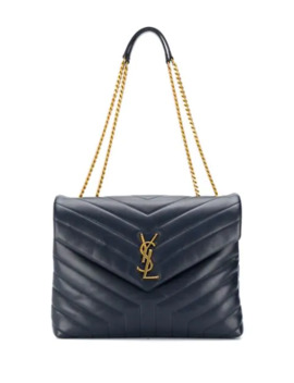Monogram Embossed Shoulder Bag by Saint Laurent