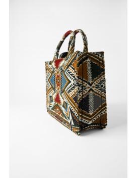 Geometric Print Tote Bag View All Bags Woman by Zara