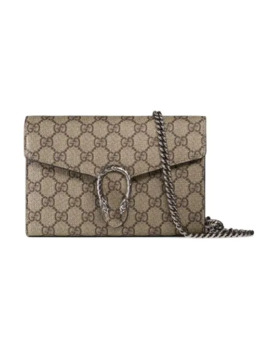 Carteira 'dionysus Gg Supreme' De Canvas Com Corrente by Gucci