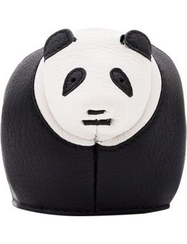 Panda Leather Coin Purse by Loewe