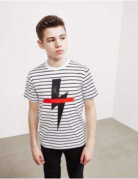 Neil Barrett Stripe Bolt Short Sleeve T Shirt by Tessuti