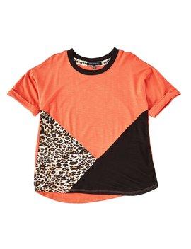Big Girls 7 16 Short Sleeve Colorblock/Leopard Print Tee by Takara