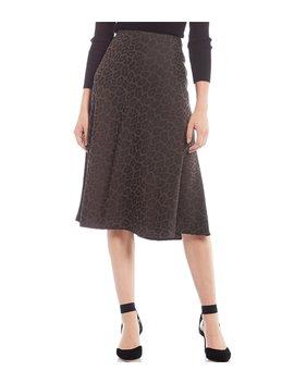 Delia Leopard Print A Line Midi Skirt by Antonio Melani