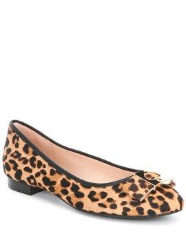 Maline Bow Leopard Print Calf Hair Ballet Slip Ons by Kate Spade New York