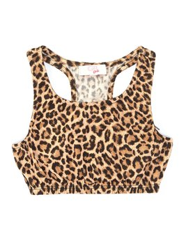 Girls Big Girls 7 16 Active Leopard Print Racer Back Sports Bra by Gb