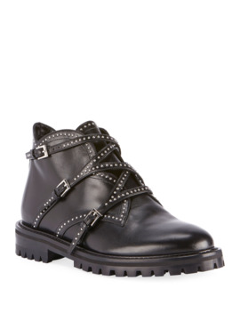 Studded Wrap Ankle Booties by Alaia