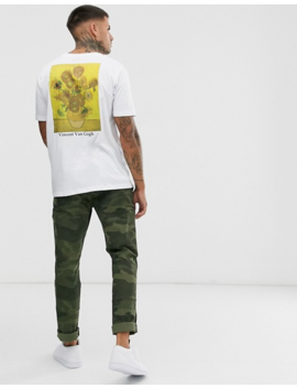 Asos Design Vincent Van Gogh Relaxed T Shirt With Placement And Text Print by Asos Design