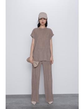 Pleated T Shirt Sleeveless T Shirts Woman by Zara