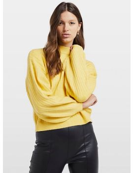 Yellow Long Sleeve Knitted Jumper by Miss Selfridge