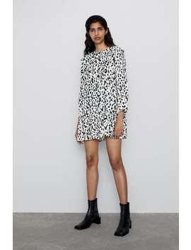 Animal Print Mini Dress  New Inwoman by Zara
