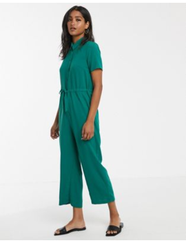 Asos Design Shirt Jumpsuit With Tie Waist by Asos Design