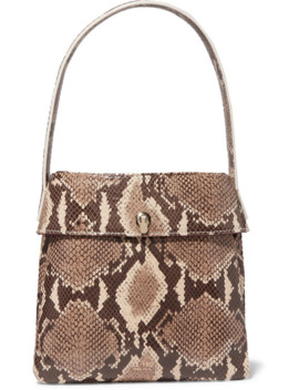 La Trio Snake Effect Leather Tote by Tl 180