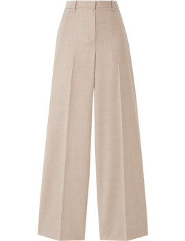 Mélange Wool Wide Leg Pants by Theory