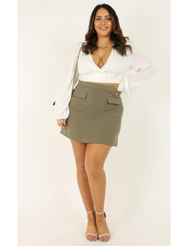 You Want To Be Known Skirt In Khaki by Showpo Fashion