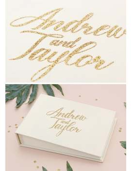 Instant Wedding Album Ivory Guest Book With Gold Glitter Lettering Instax Photo Album, Birthday Album   By Liumy by Etsy