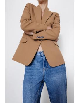 Blazer With Flap Pockets Tops Knitwear Woman by Zara