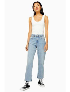 Bleach Clean Hem Straight Jeans by Topshop
