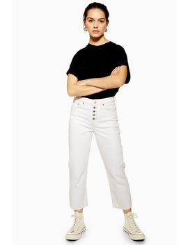 Petite White Straight Jeans by Topshop