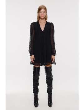 Dotted Mesh Mini Dress View All Dresses Woman by Zara