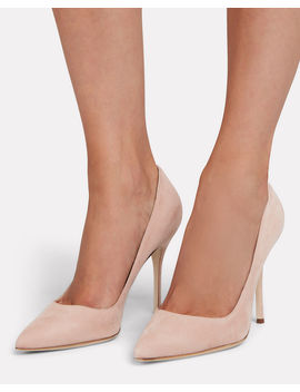 Brushed Suede Pumps by Manolo Blahnik