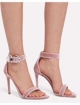Velvet Stiletto Sandals by Alexander Mc Queen