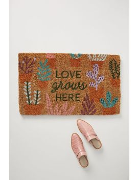 Love Grows Here Doormat by Anthropologie
