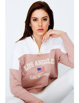 Pink Los Angeles Sweat by Select