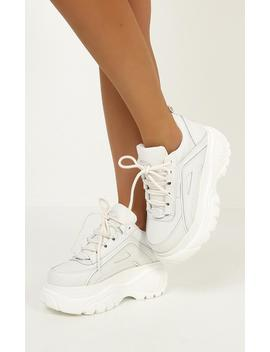 Windsor Smith   Lupe Sneakers In White Leather by Showpo Fashion