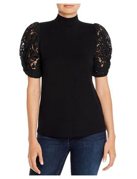 Alanna Lace Puff Sleeve Top by Generation Love