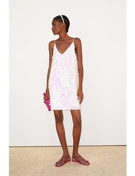 Iridescent Sequin Dress View All Dresses Woman by Zara