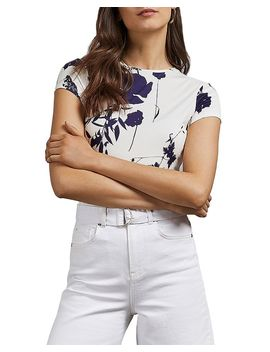Miliyy Bluebell Floral Printed Fitted Tee by Ted Baker